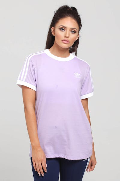 Adidas Women's 3 Stripes Tee Lilac