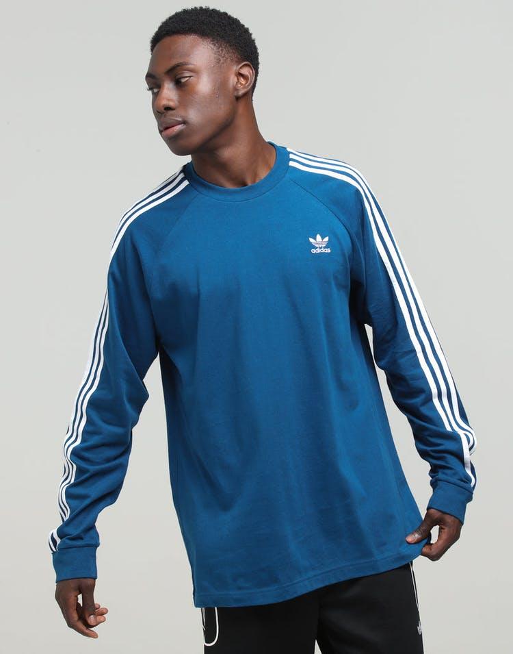 8e45335d0c Adidas 3-Stripe LS Tee Marine Blue – Culture Kings