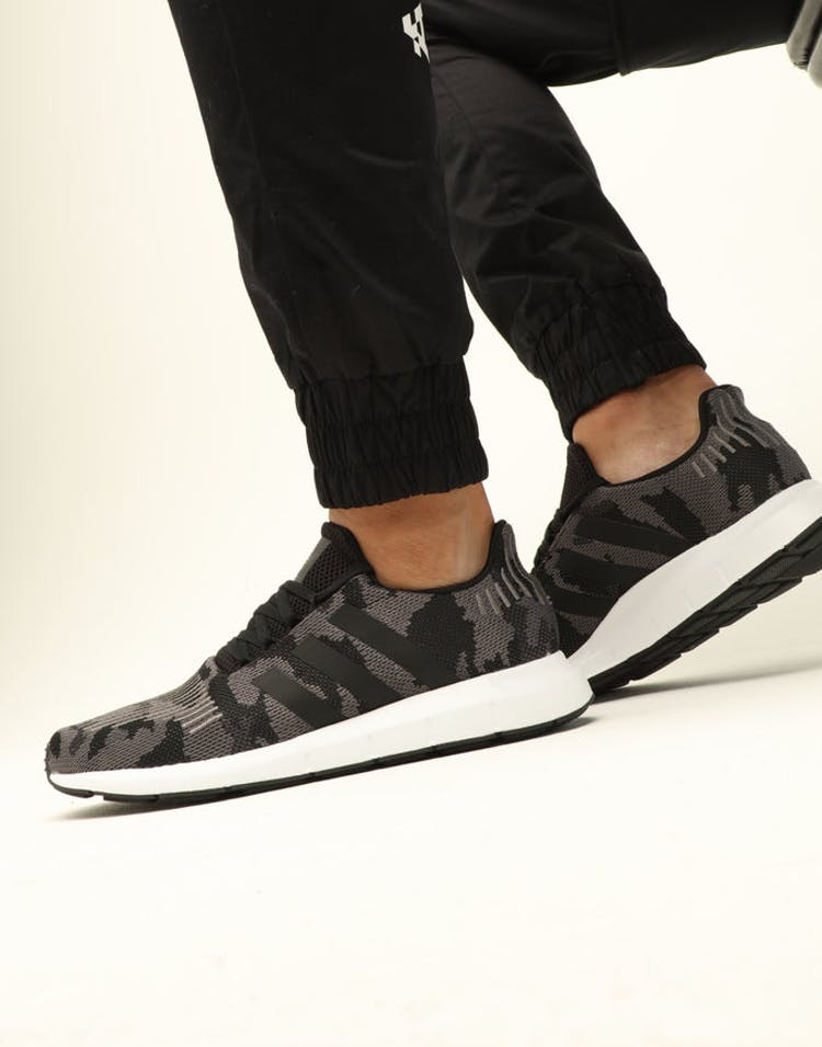 aa922096f9c07 Adidas Swift Run Black Black White – Culture Kings