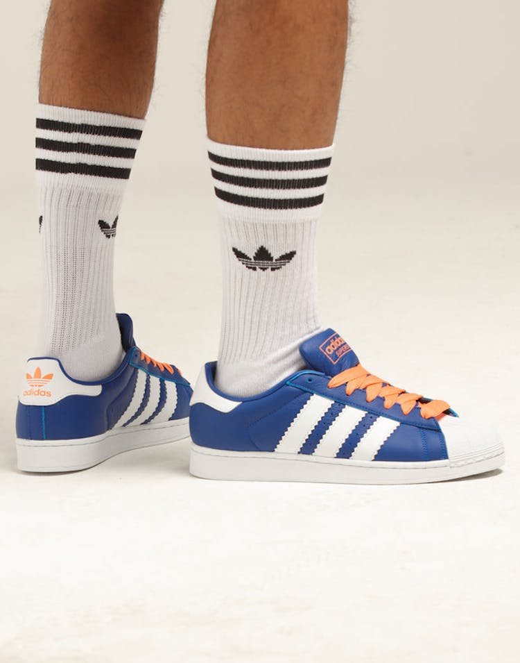 separation shoes a2cce 2283c Adidas Superstar Royal Orange White – Culture Kings