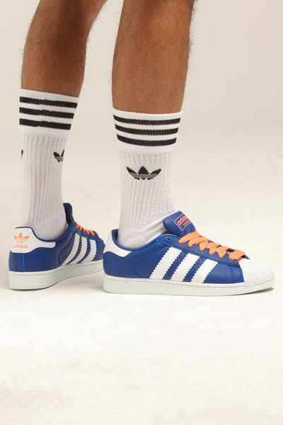 Adidas Superstar Royal/Orange/White