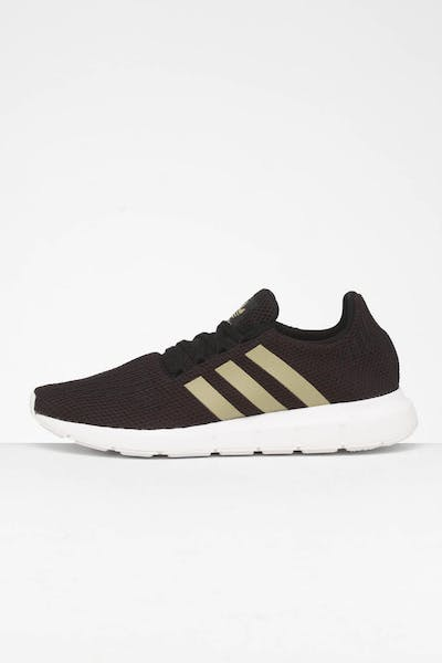 Adidas Women's Swift Run Black/Gold