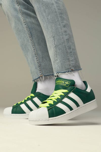 Adidas Superstar Green/White/Yellow
