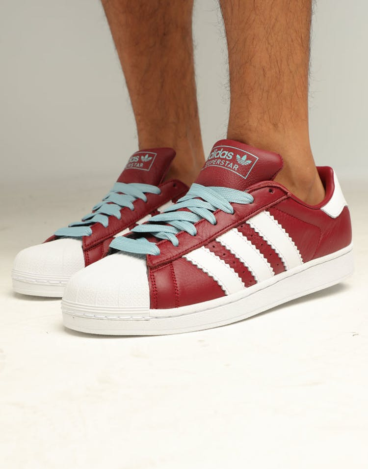 online store 76a65 4a68c ADIDAS SUPERSTAR BURGUNDY WHITE ASH – Culture Kings