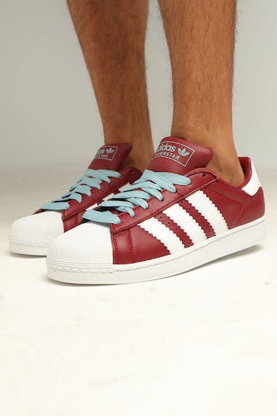 ADIDAS SUPERSTAR BURGUNDY/WHITE/ASH