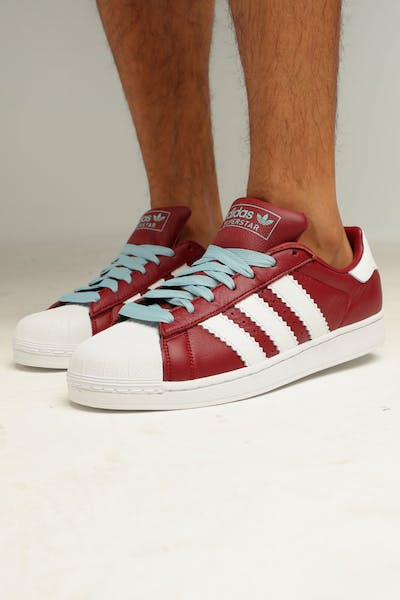 a37d7b030daf ADIDAS SUPERSTAR BURGUNDY WHITE ASH