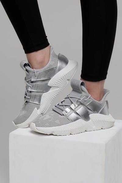buy online 73427 5d7b9 Adidas Womens Prophere GreySilverWhite