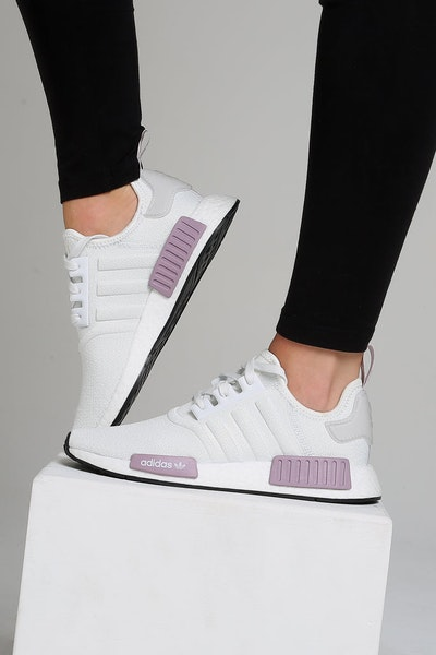 Adidas Women's NMD_R1 White/Purple