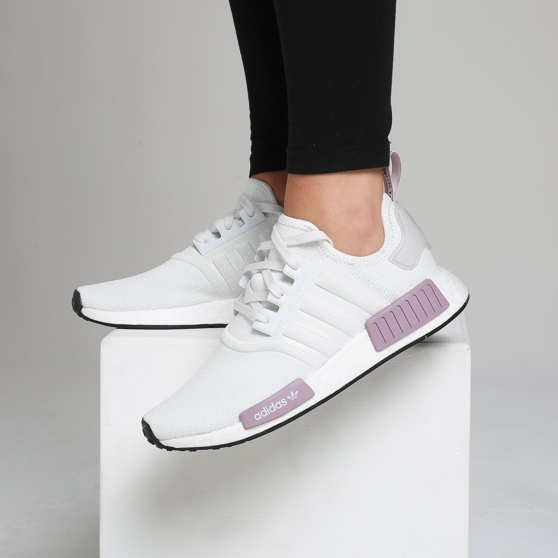 Adidas Women's NMD_R1 White/Purple