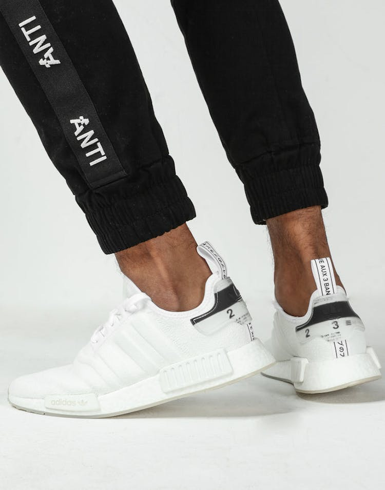 low priced e8a09 c405e Adidas NMD-R1 White White – Culture Kings
