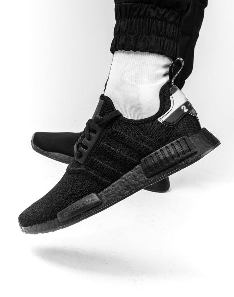 uk availability 573c4 33abc Adidas NMD-R1 Black Black White – Culture Kings
