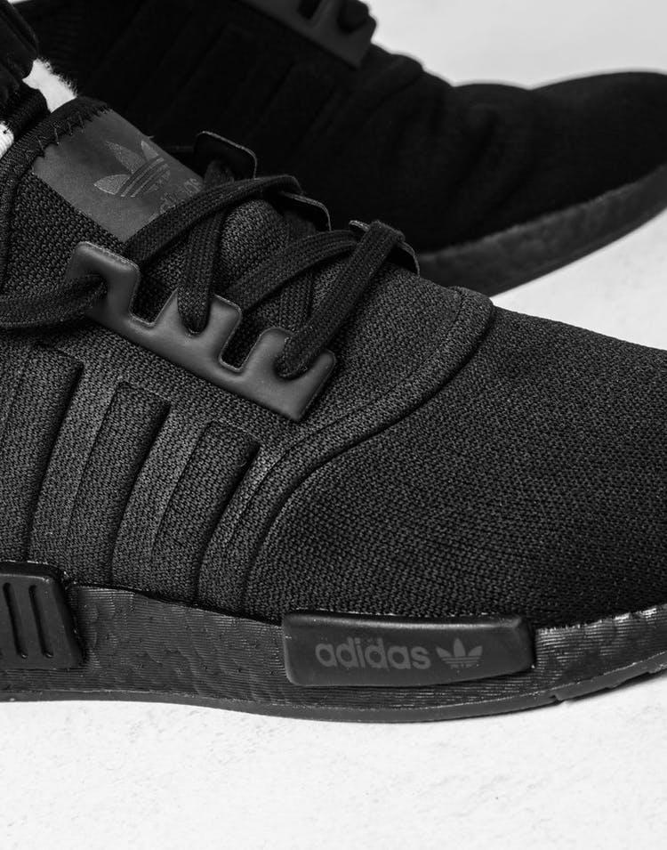 size 40 ab6ab 14255 Adidas NMD-R1 Black Black White