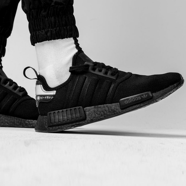 outlet store d5574 959b2 ADIDAS NMD-R1 BLACK BLACK WHITE