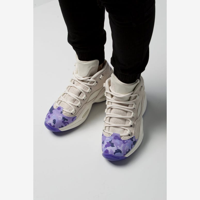 0984a107bd4 Reebok Question Mid Cam ron White Purple – Culture Kings