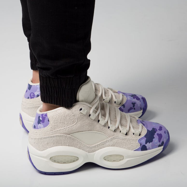 8b3ad3c27ce1 Reebok Question Mid Cam ron White Purple – Culture Kings
