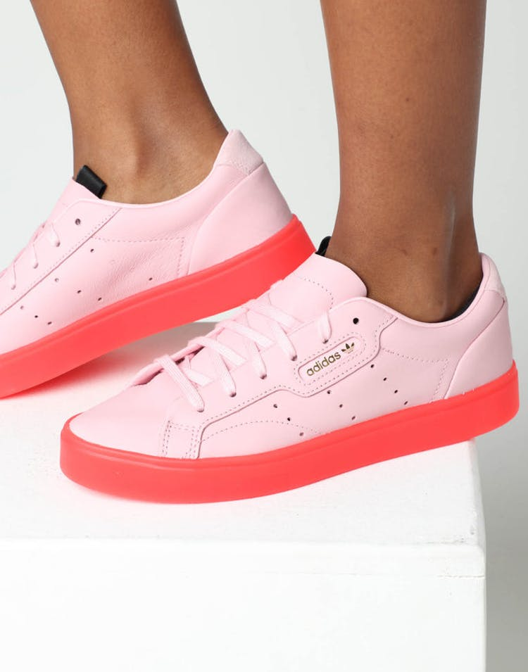 purchase cheap e1641 be6f6 Adidas Women s Sleek Pink Red – Culture Kings
