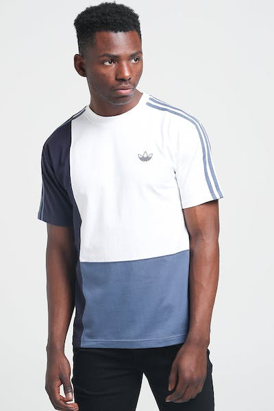 Adidas Asymm Tee White/Ink/Ink