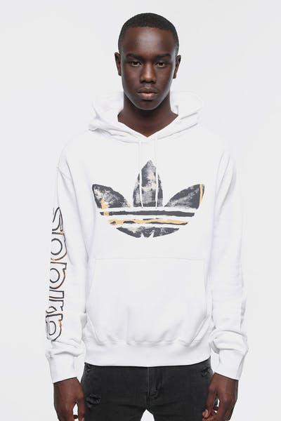 ADIDAS WATERCOLOUR HOODY WHITE