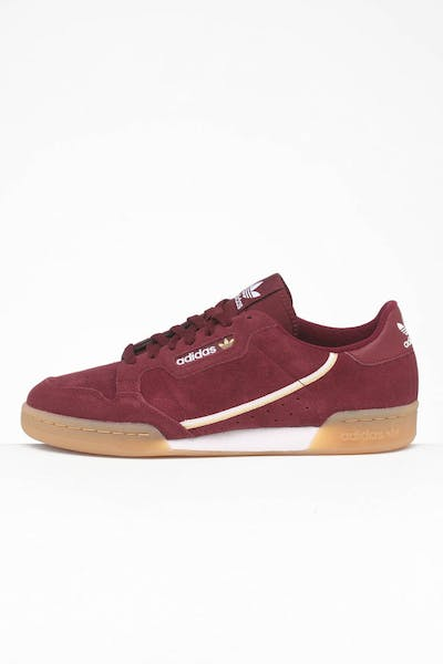 Adidas Continental 80 Maroon/White