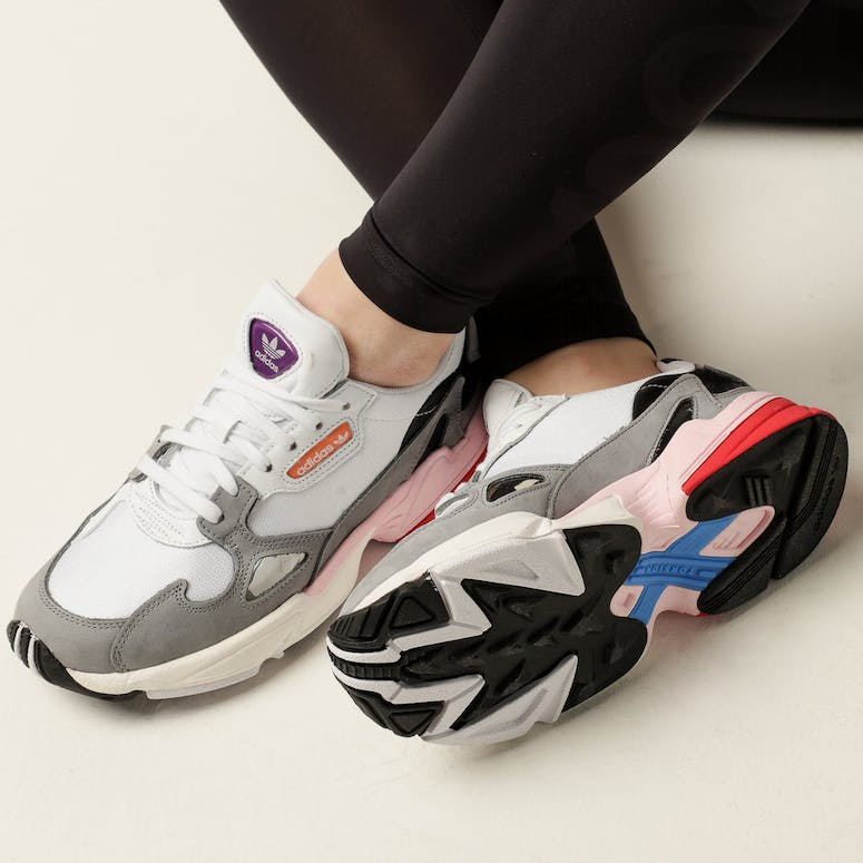 Adidas Women's Falcon White/Grey/Pink