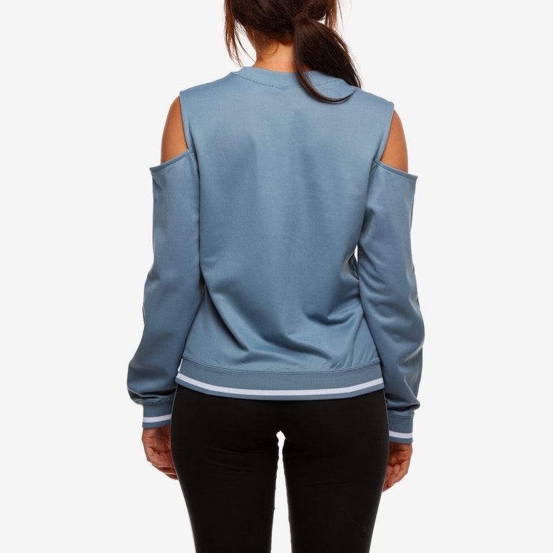 Adidas Women's Cutout Sweater Dark Grey
