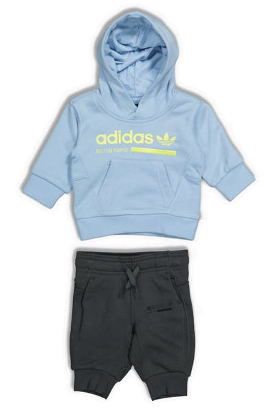 Adidas Kids Kaval Hood Set Sky Blue/Grey