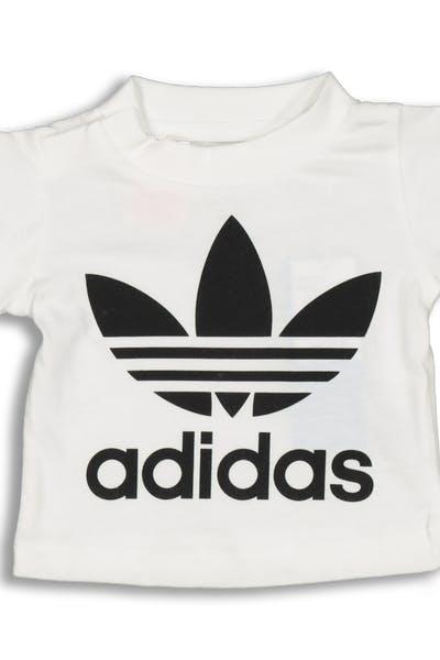 8528c77d85da Adidas Infant Trefoil Tee White Black