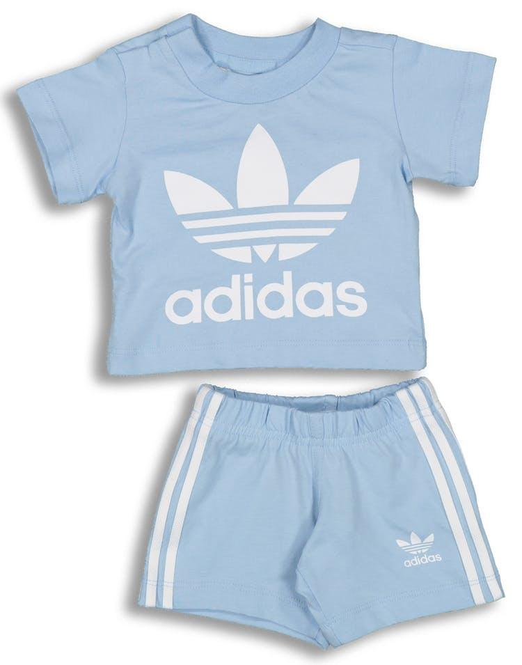 5b3111cda39 Adidas Kids Short Tee Set Light Blue/White – Culture Kings