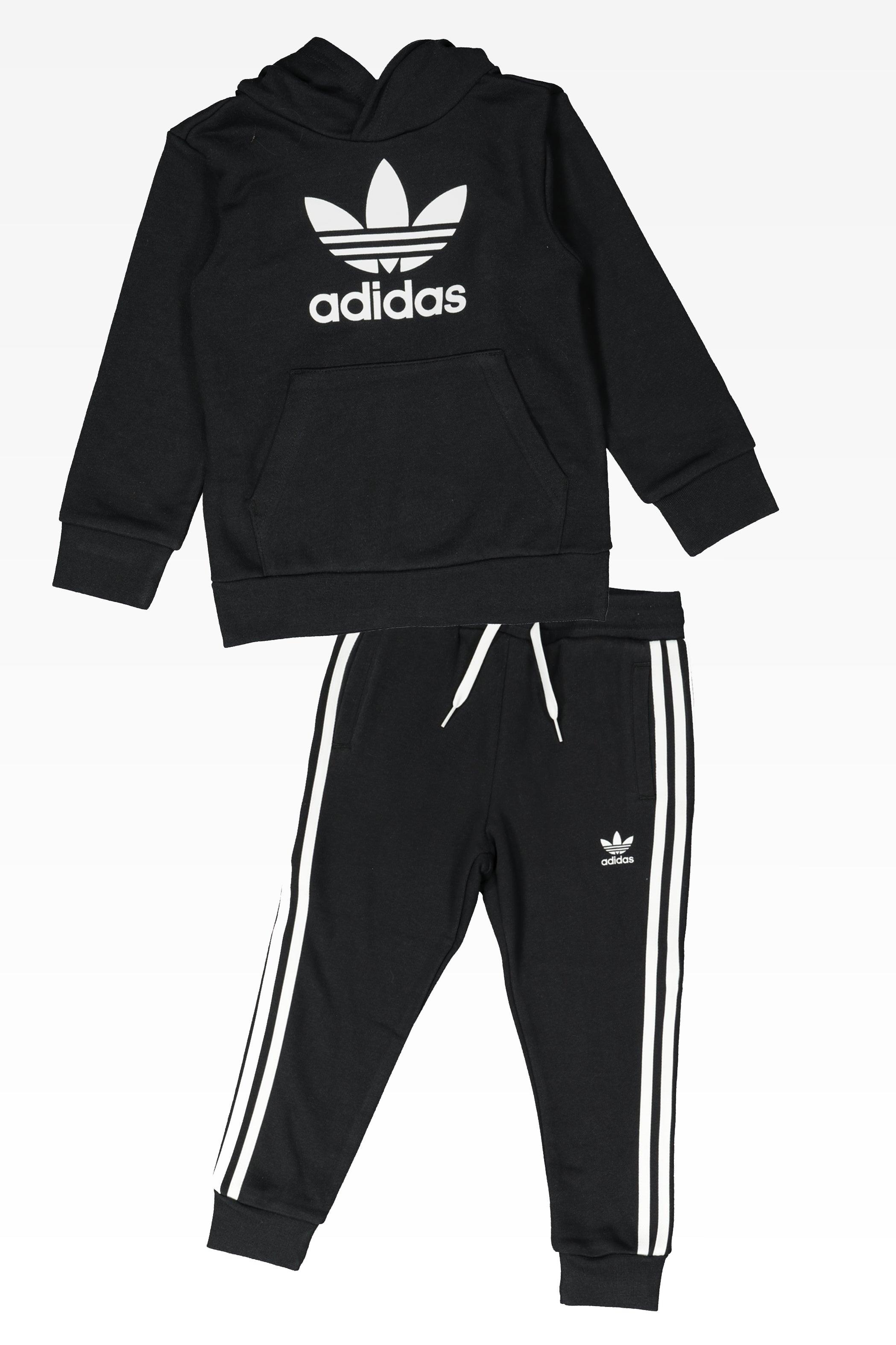 Adidas Kids Trefoil Hoodie Set BlackWhite