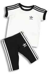 ADIDAS KIDS 3 STRIPES DRESS WHITE/BLACK