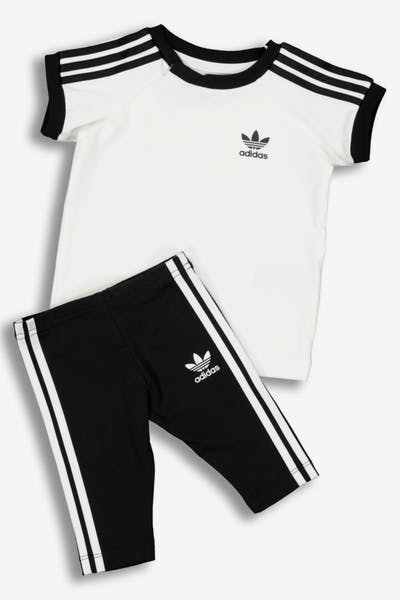 cb5f773269d Adidas Kids 3 Stripes Dress White Black