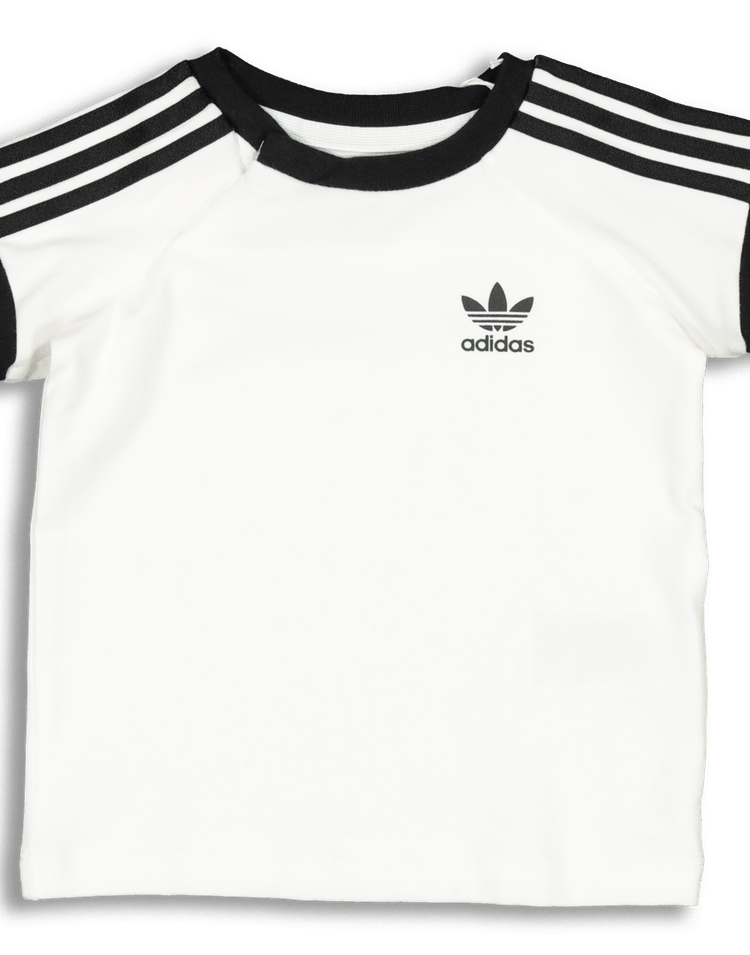 adidas Black Raglan 3 Stripe Track Set (For Little Girls