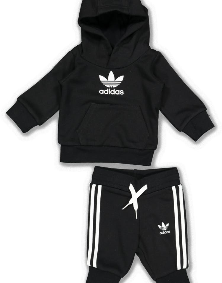 68b3afccb43d Adidas Kids Trefoil Hoodie Set Black White – Culture Kings