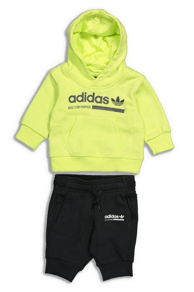 Adidas Kids Kaval Hood Set Lime/Black