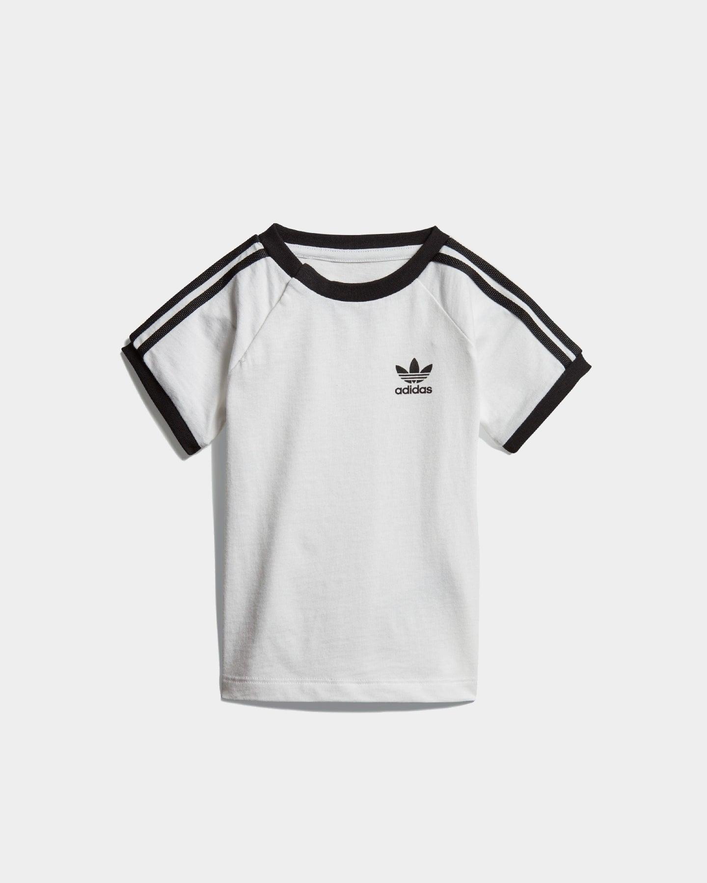 Adidas Kids 3 Stripes Tee WhiteBlack