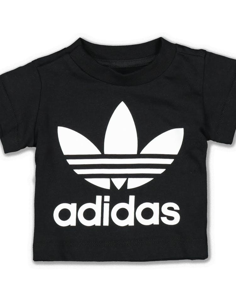 d16c6418290 Adidas Trefoil Tee Black/White – Culture Kings