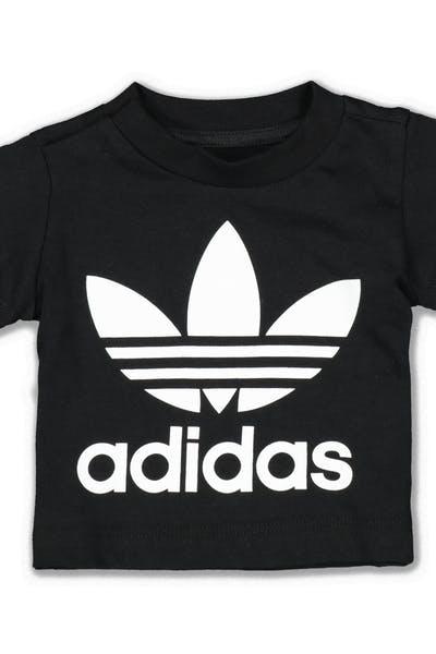 fbf287d37751e6 Adidas Trefoil Tee Black White