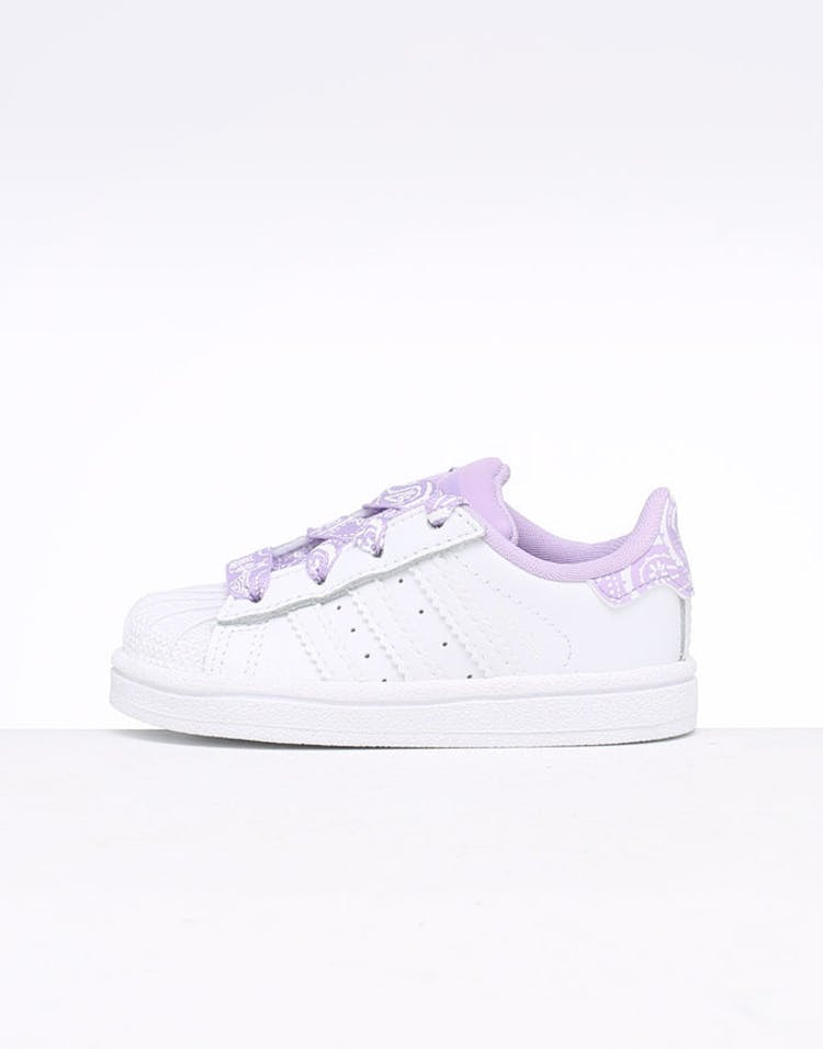 buy online fcdd0 e4d75 Adidas Toddler Superstar I White Purple – Culture Kings