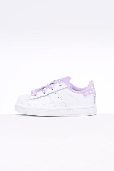 14979324ee213 Adidas Toddler Superstar I White Purple