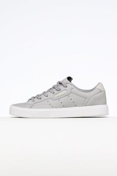 new styles 3ce76 d729a Adidas Women s Sleek Grey Grey White + Quick View