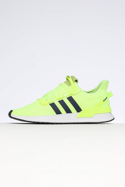 reputable site 8b4d6 a5947 Adidas U Path Run Yellow Navy White