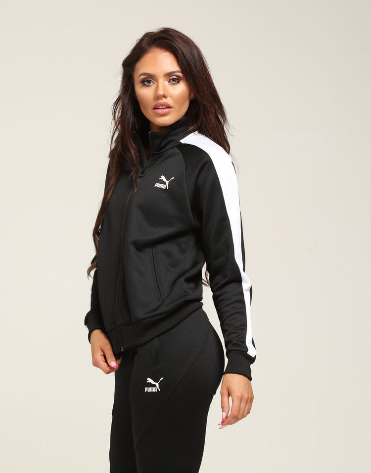 dccd93a8 Puma Women's Classics T7 Track Jacket Black