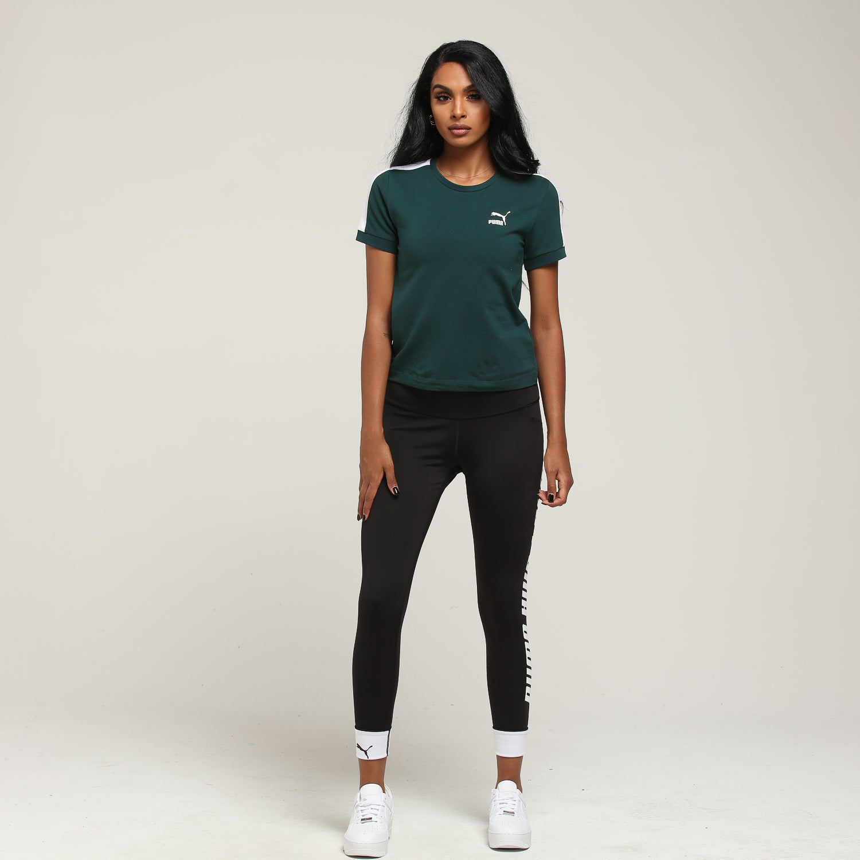Puma Women's Classics Tight T7 Tee Pine
