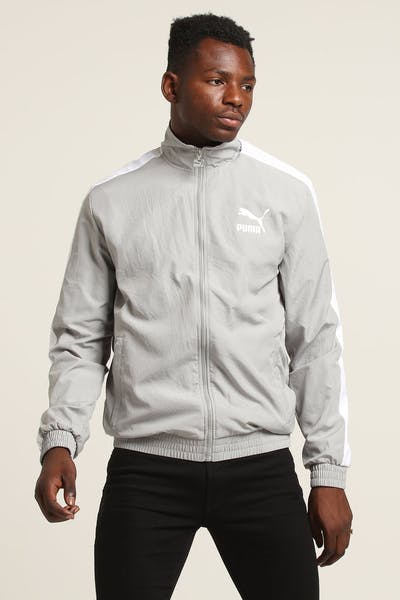 PUMA Iconic T7 Woven Track Jacket Grey