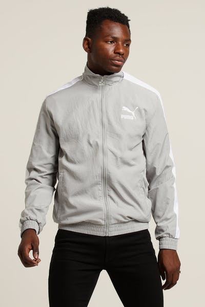 a7226d2a2c31 PUMA Iconic T7 Woven Track Jacket Grey