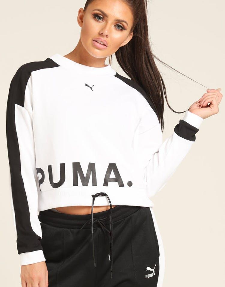 18143414 Puma Women's Chase Crew White