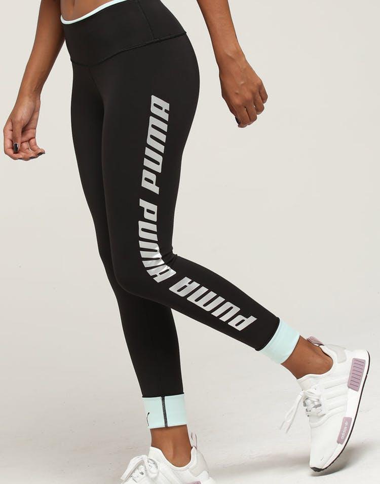 91692f04a56f9 Puma Women's Modern Sports Foldup Legging Black/Aqua – Culture Kings