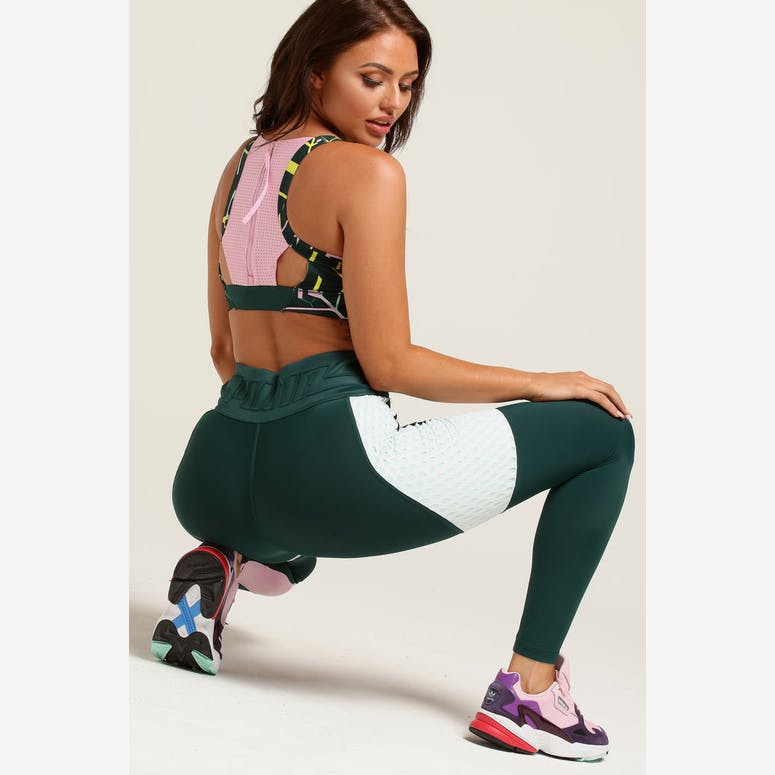 Puma Women's Cosmic Bra M TZ Pine/Multi-Coloured