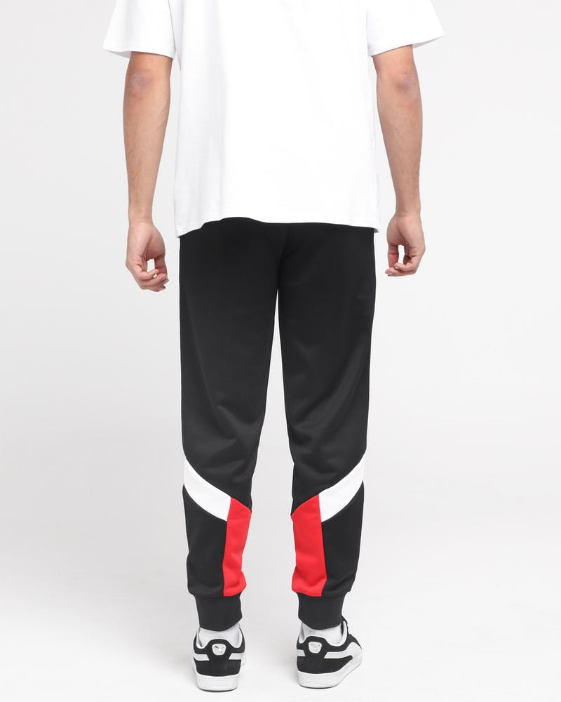 PUMA ICONIC MCS TRACK PANT CUFF BLACK/RED