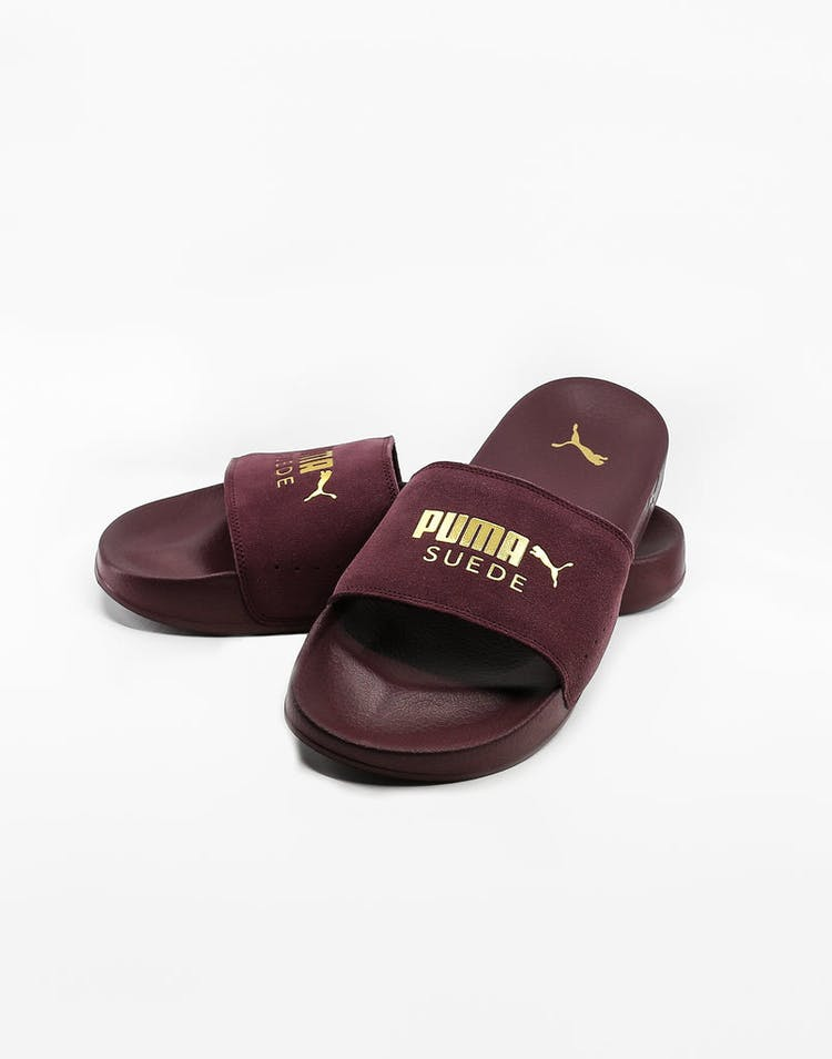 best cheap 6b3af fe68a Puma Leadcat Suede Wine/Gold